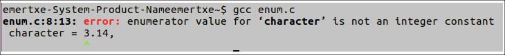 Enumeration in C