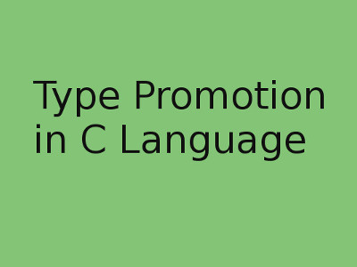 Type promotion in C
